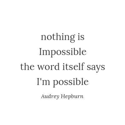 I am possible!